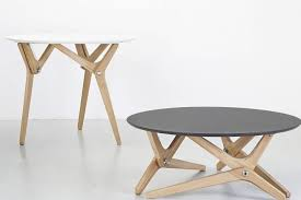 Shape shifting table can transform from coffee setting to dining