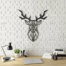 geo deer modern metal wall art on metal wall art overstock with shop geo deer modern metal wall art free shipping today