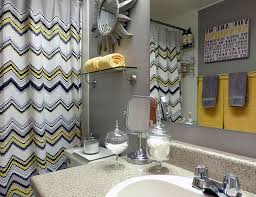 grey and yellow bathroom accessories. pops of yellow enliven modern bathroom in gray [design: dominika pate interiors] grey and accessories h