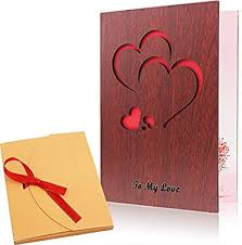 Valentinsday Card Amazon Com Handmade Wood Love Valentines Day Card With Unique Gift
