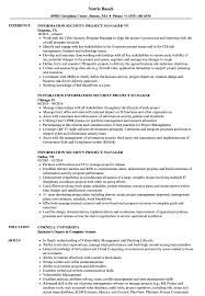 Sample Security Manager Resume Information Security Project Manager Resume Samples Velvet Jobs 20