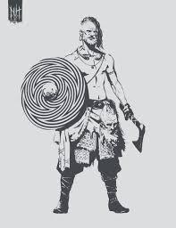 Tapety Viking štít Nordický Sekera Tetování Valentin