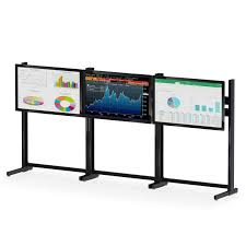Flat Screen Display Stand Triple Flat Screen Monitor Stand afcindustries 60