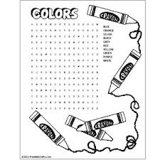 Learners will assemble puzzles matching each item to the correct color free color word pattern block mats. Printable Colors Word Search