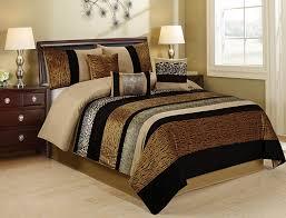 unique home 7 piece sambar animal kingdom clearence safari comforter sets king size tiger lepard snake prints com
