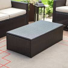 wicker coffee table nz square outdoor black glass top