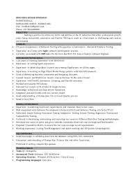 Qtp Sample Resume For Software Testers