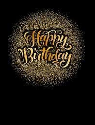 5x7ft Black Wall Gold Glitter Happy Birthday Party Poster Kids