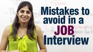 Mistakes To Avoid During A Job Interview Job Interview Tips