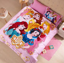girl kids bed set for girls rapunzel ariel queen size princess cartoon bedding sets twin full size 100 cartoon bed sheets blue and white duvet cover