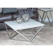 stainless steel coffee table modrest cage modern stainless steel round coffee table with glass top