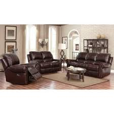 living room furniture sets. Abbyson Broadway Top Grain Leather Reclining 3 Piece Living Room Set Living Room Furniture Sets