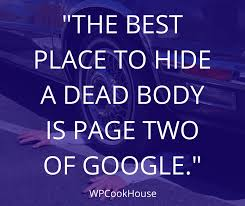 SEO Quotes Google Second Page Dead Body WPCookHouse Beauteous Quote For The Dead