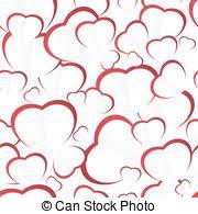 Heart Scrolls Seamless Heart Scrolls Rows Of Dark Red Hearts Flit Under Scrolls