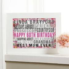 personalized 60th birthday gift ideas for her