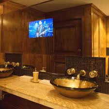 Charming Mirror Tv Bathroom Mirrors With Built In TVs Screen