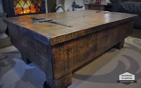 diy rustic coffee table with storage storage coffee table wood chest rough sawn rustic pi on