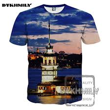 City Lights Clothing Store Dykhmily Casual Men 3d Print T Shirt City Lights O Neck