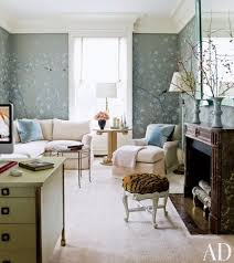 Interior design corporate office Classy Chinoiserie Wallpaper By De Gournay Lines An Office At New York Apartment Designed By David Joyce Contract Interiors 50 Home Office Design Ideas That Will Inspire Productivity