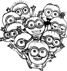 Printable Minion Coloring Pages Minion Coloring Pictures Minions