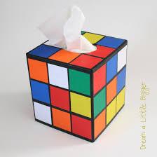 diy to make a rubik s cube tissue holder like on big bang theory