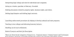 Lawyer Job Description. 8+ Lawyer Job Description Samples Sample ...