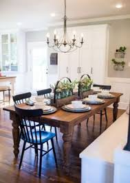 dinner table lighting. Peruse Some Of Our Favorite HGTV Fixer Upper Interior Design Moments Captured By Rachel Whyte! 12 Farmhouse Tables And Dining Dinner Table Lighting T