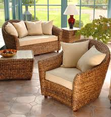 Living Room Wicker Furniture Nassau Suite In Banana Leaf Cane Garden Rooms Pinterest