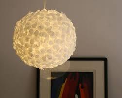 diy lighting design. Modren Lighting White Paper Petal Pendant DIY Intended Diy Lighting Design I