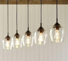 kitchen lighting pendant. donovan glass 5light pendant pottery barn kitchen lighting e