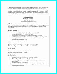 Cna Resume Examples Simple Sample Resume For A Cna Position New Resume For Cna Resume Examples