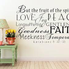 scripture wall art fruit of the spirit vinyl wall decal