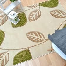 leaf pattern rug vogue leaf rugs in green and cream leaf pattern rug