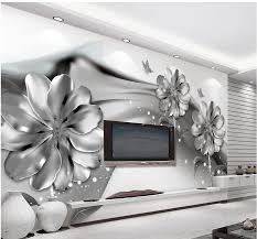 3d Muurschilderingen Behang Zwart Wit Bloem Custom Behang Mural 3d