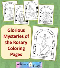 After the roman catholic liturgy, the catholic rosary is the most powerful and beloved catholic prayer so it is our coloring sheets make learning the rosary fun, especially for those visual learners for whom a picture is worth a thousand words. Free Printable Mysteries Of The Rosary Coloring Pages Drawn2bcreative