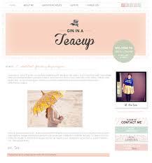 Smitten Design Custom Blog Design Gin In A Teacup Smitten Blog Designs