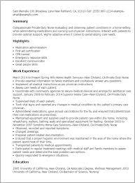 Resume Templates: Private Duty Nurse