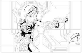 Small Picture Coloring Pages Sabine Wren by RCBrock on DeviantArt LineArt