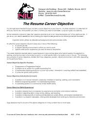 Sample Career Objective In Resume For Ojt Objectives Examples