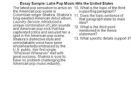 essay sample latin pop music hits the united states since the essay sample latin pop music hits the united states the latest pop sensation to arrive