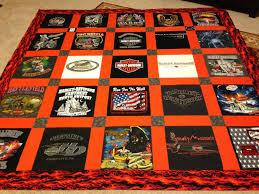 Harley Davidson themed 25 Block TShirt Quilt Custom Made Queen Size &  Adamdwight.com