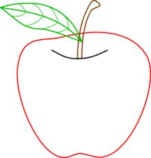 teacher apple clipart. colored apple outline clip art teacher clipart a