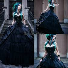 Discount <b>Black Victorian</b> Gothic Wedding Dresses Corset <b>Strapless</b> ...
