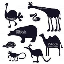 かわいい動物シルエット アフリカのベクターアート素材や画像を多数ご