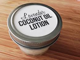lavender coconut oil lotion with free printable