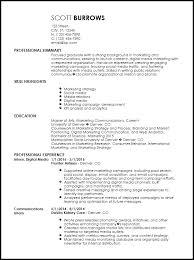 Media Resume Template Free Professional Internship Resume Templates Resume Now