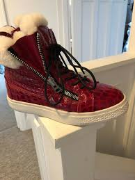 perfect condition fab red mock croc leather ugg boots with zipper detail only worn once size uk 7