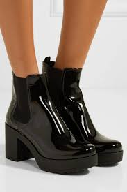 prada womens patent leather ankle boots