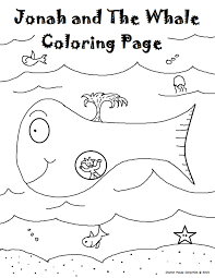 Small Picture Jonah And The Whale Coloring Pages