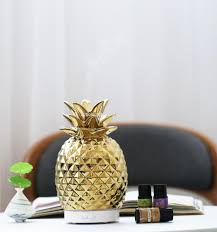 Ceramic Pineapple Shaped Essential Oil Ultrasonic Aroma Diffuser